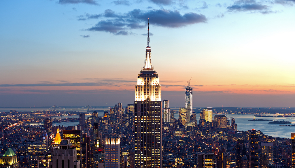 High Angle View Manhattan New York City