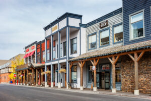 Businesses In Downtown Jackson Wyoming USA
