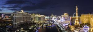 Cityscape Las Vegas Skyline At Sunset